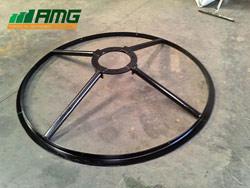 Aro suporte do motor/ hélice executado em aço carbono revestido