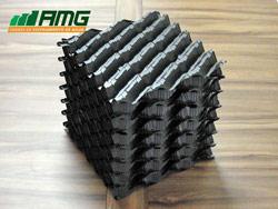 Enchimento em placa corrugada em PVC