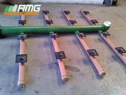 Sistema de distribuição de água em PRFV e PVC com bicos injetados