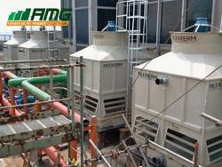 Montagem de torres de resfriamento de água modelo ASP 710