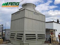 Montagem de torre de resfriamento de água modelo ASP 870