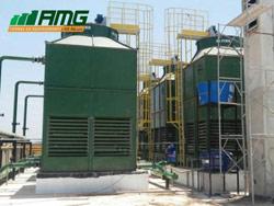 Montagem de 6 torres de resfriamento de água modelo 100 Alpina