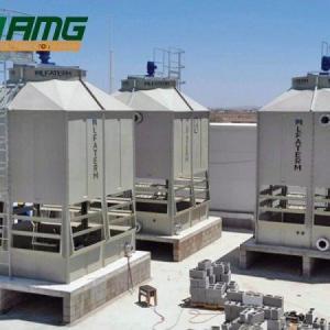 Instalação de torre de resfriamento