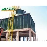 assistência para torre de resfriamento de água vettor