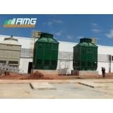 reforma de torre de resfriamento de água vettor